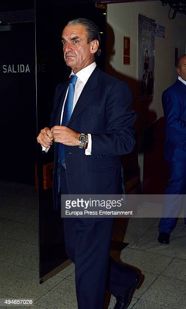 Mario Conde presents the documentary film 'Mario Conde' on October 27 2015 in Madrid Spain