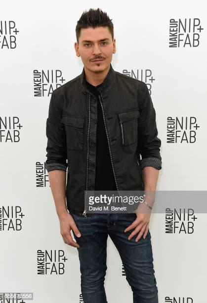 Mario Dedivanovic attends the Mario Dedivanovic Maria Hatzistefanis launch of NIPFAB Makeup with model Chloe Lloyd on March 20 2017 in London England