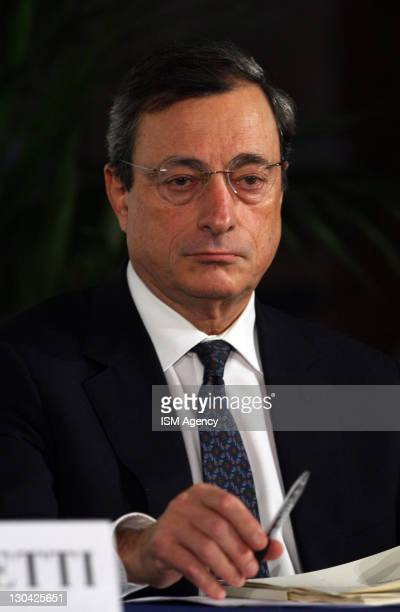 Mario Draghi Governor of Italy's central bank and incoming President of European central bank attends ' World Saving Day ' meeting on October 26 2011...