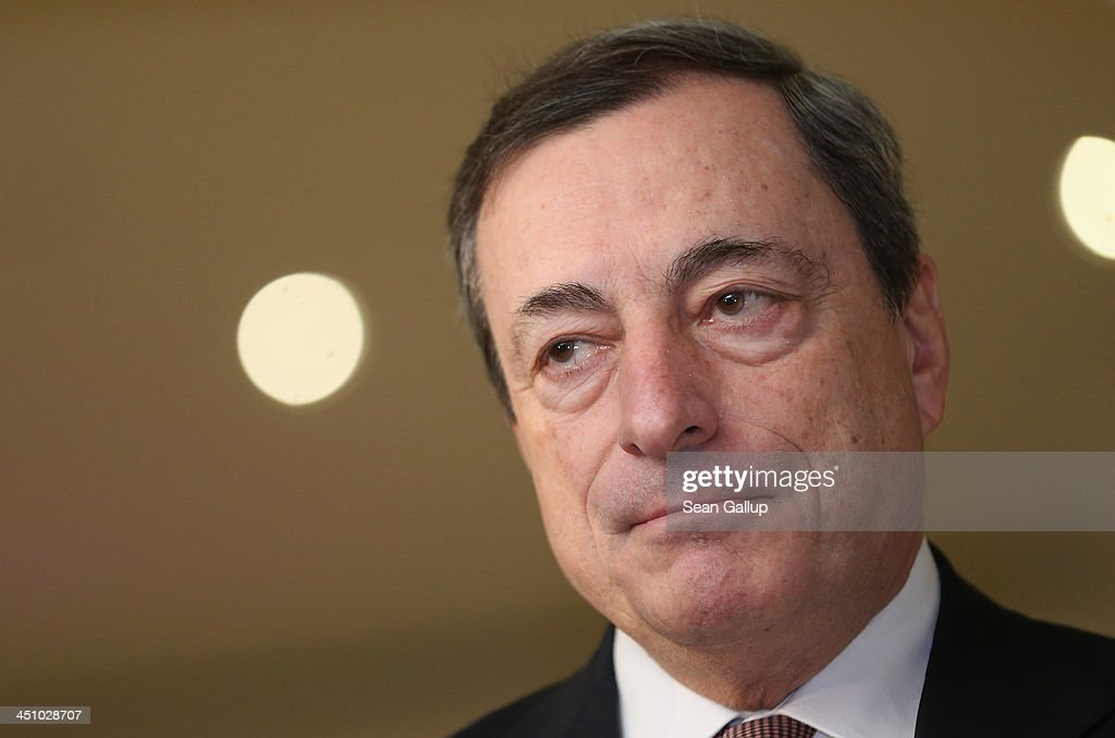 Mario Draghi, President of the European Central Bank, attends the Sueddeutsche Zeitung leadership conference on November 21, 2013 in Berlin, Germany. The conference runs from November 21-23 and speakers include the presidents of Greece and Italy.