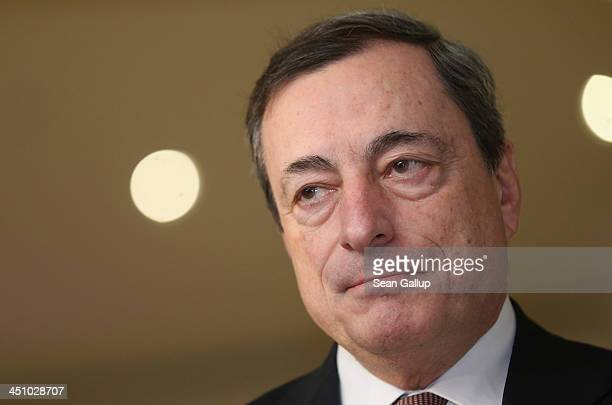 Mario Draghi President of the European Central Bank attends the Sueddeutsche Zeitung leadership conference on November 21 2013 in Berlin Germany The...