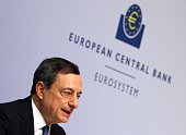 Mario Draghi President of the European Central Bank ECB addresses the media during a press conference following the meeting of the Governing Council...