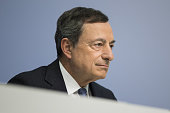 Mario Draghi president of the European Central Bank looks on ahead of a news conference to announce the bank's interest rate decision at the ECB...
