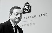 Mario Draghi President of the European Central Bank pictured during his first press conference following the monthly ECB board meeting in the new ECB...