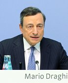Mario Draghi president of the European Central Bank speaks at a press conference in Frankfurt Germany on July 21 after a meeting of the governing...