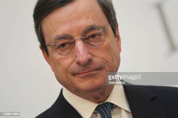 Mario Draghi President of the European Central Bank speaks at the Ludwig Erhard Lecture on December 15 2011 in Berlin Germany Draghi said a 'short...