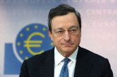 Mario Draghi President of the European Central Bank speaks to the media at ECB headquarters on November 8 2012 in Frankfurt Germany Draghi announced...
