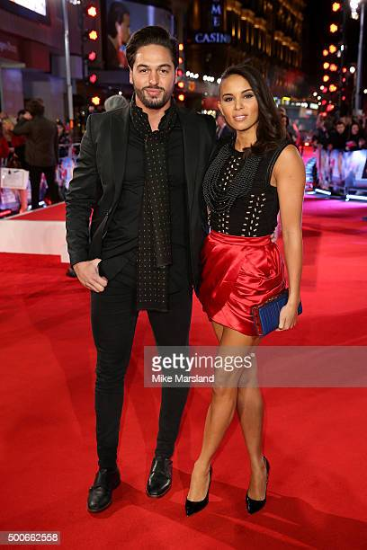 Mario Falcone and Louise Hazel attend the London Premiere of 'Daddy's Home' at Vue West End on December 9 2015 in London United Kingdom