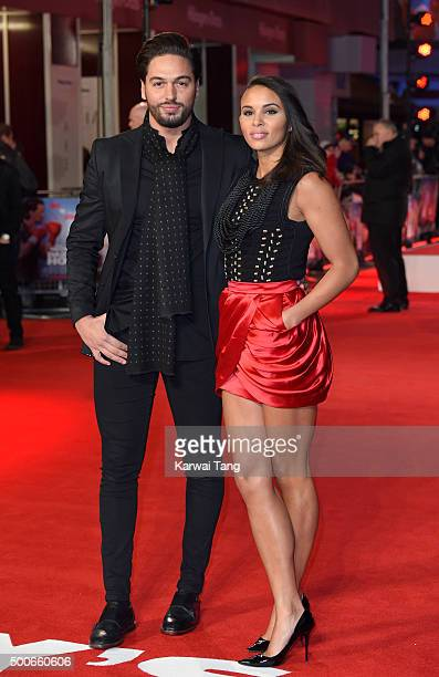 Mario Falcone and Louise Hazel attend the UK Film Premiere of 'Daddy's Home' at Vue West End on December 9 2015 in London England
