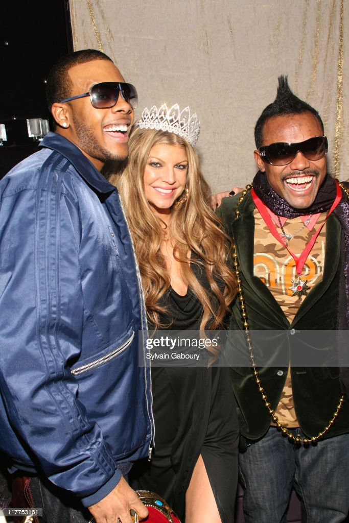 Mario, Fergie and Apl.De.Ap during Samsung Celebrates Release of the K5MP3 Player and Fergie's Debut Album 'The Dutchess' at Tenjune in New York, NY, United States.
