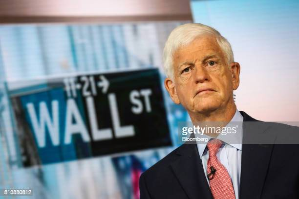 Mario Gabelli chief investment officer of value portfolios at Gabelli Funds LLC listens during a Bloomberg Television interview in New York US on...