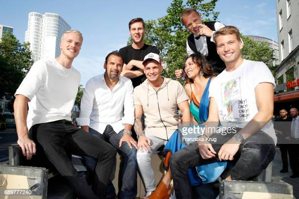 Mario Galla Ulf Kirsten Maurice Gajda Pietro Lombardi Oliver Pocher Lilly Becker and Raul Richter attend the 'Global Gladiators' exclusive preview in...