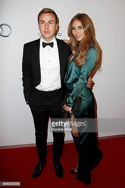 Mario Goetze and AnnKathrin Broemmel attend the Audi Night 2016 at Hotel zur Tenne on January 22 2016 in Kitzbuehel Austria