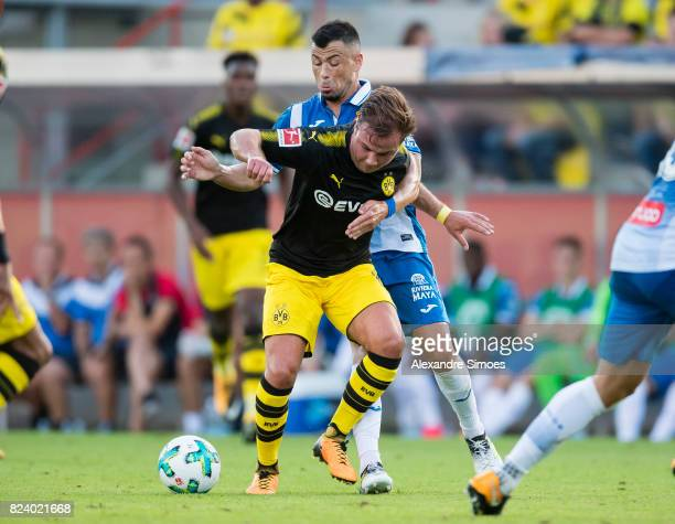 Mario Goetze of Borussia Dortmund in action during a friendly match between Espanyol Barcelona and Borussia Dortmund as part of the training camp on...