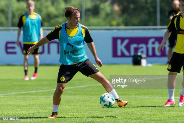 Mario Goetze of Dortmund controls the ball during a training session as part of the training camp on July 30 2017 in Bad Ragaz Switzerland