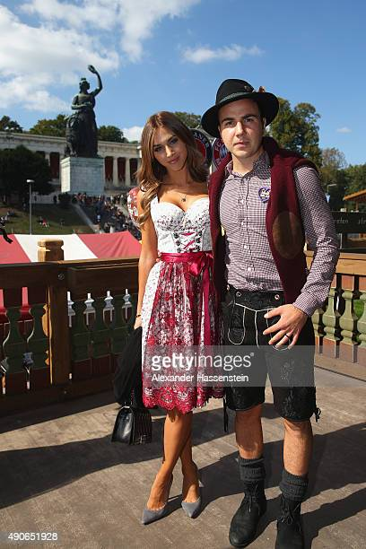 Mario Goetze of FC Bayern Muenchen attends with the Oktoberfest 2015 Beerfestival at Kaefer Wiesenschaenke at Theresienwiese on September 30 2015 in...