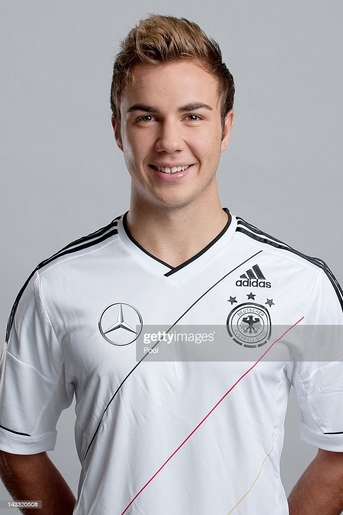 <a gi-track='captionPersonalityLinkClicked' href=/galleries/search?phrase=Mario+Goetze&family=editorial&specificpeople=4251202 ng-click='$event.stopPropagation()'>Mario Goetze</a> of Germany poses during a national team photocall on November 14, 2011 in Hamburg, Germany.