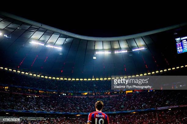 Mario Gotze of Bayern is pictured during the second leg of the UEFA Champions League semifinal match between FC Bayern Muenchen and FC Barcelona at...