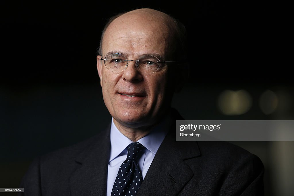 Mario Greco, chief executive officer of Assicurazioni Generali SpA, poses for a photograph following a Bloomberg Television interview in London, U.K., on Monday, Jan. 14, 2013. Assicurazioni Generali SpA, Europe's third-largest insurer, plans to cut costs and boost cash flow to more than 2 billion euros ($2.7 billion) by 2015 as it focuses on emerging markets and insurance to restore profitability. Photographer: Simon Dawson/Bloomberg via Getty Images