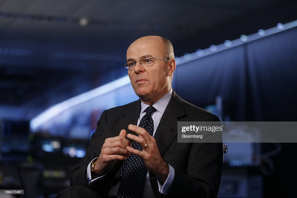 Mario Greco, chief executive officer of Assicurazioni Generali SpA, speaks during a Bloomberg Television interview in London, U.K., on Monday, Jan. 14, 2013. Assicurazioni Generali SpA, Europe's third-largest insurer, plans to cut costs and boost cash flow to more than 2 billion euros ($2.7 billion) by 2015 as it focuses on emerging markets and insurance to restore profitability. Photographer: Simon Dawson/Bloomberg via Getty Images