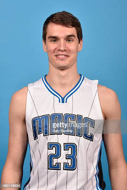 Mario Hezonja of the Orlando Magic poses for a headshot during NBA Media Day on September 25 2015 at Amway Center in Orlando Florida NOTE TO USER...