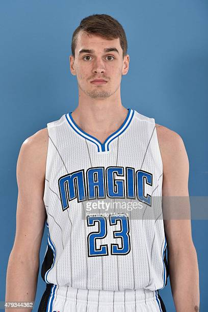 Mario Hezonja of the Orlando Magic poses for a headshot on July 2 2015 at Amway Center in Orlando Florida NOTE TO USER User expressly acknowledges...