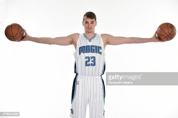 Mario Hezonja of the Orlando Magic poses for a portrait on July 2 2015 at Amway Center in Orlando Florida NOTE TO USER User expressly acknowledges...