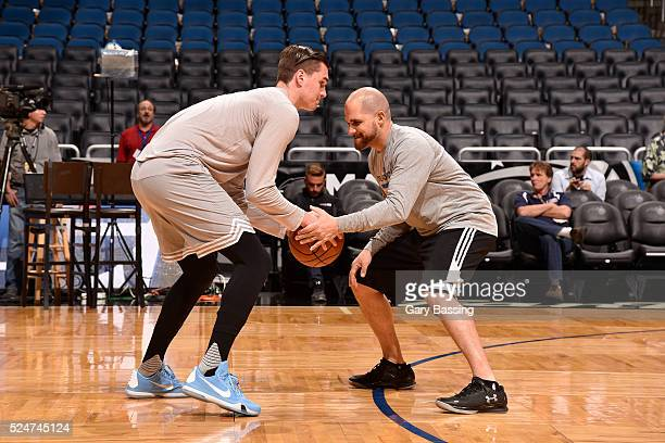 Mario Hezonja of the Orlando Magic warms up before the game against the Phoenix Suns on March 4 2016 at Amway Center in Orlando Florida NOTE TO USER...