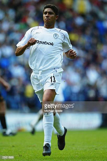 Mario Jardel of Bolton Wanderers in action during the FA Barclaycard Premiership match between Bolton Wanderers and Wolverhampton Wanderers held on...