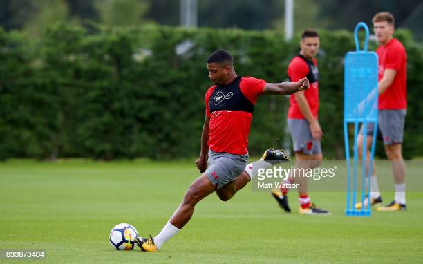 Mario Lemina during a Southampton FC training session at the Staplewood Campus on August 17 2017 in Southampton England