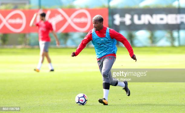 Mario Lemina during a Southampton FC training session at the Staplewood Campus on September 28 2017 in Southampton England