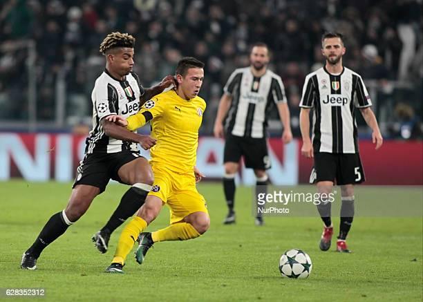 Mario Lemina during Champions League match between Juventus v Dinamo Zagreb in Turin on December 7 2016