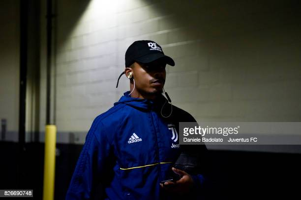 Mario Lemina of Juventus arrival before the International Champions Cup 2017 match between AS Roma and Juventus at Gillette Stadium on July 30 2017...
