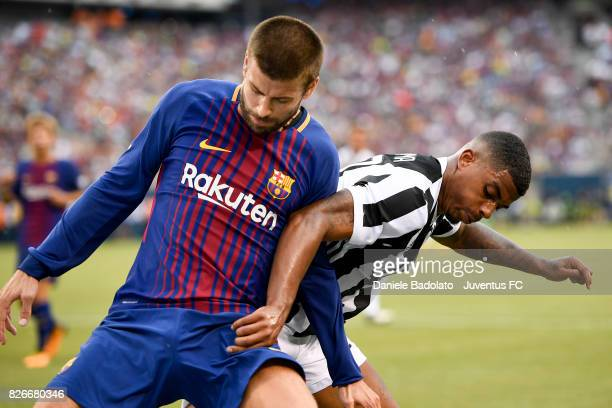 Mario Lemina of Juventus in action during the International Champions Cup match between Juventus and Barcelona at MetLife Stadium on July 22 2017 in...