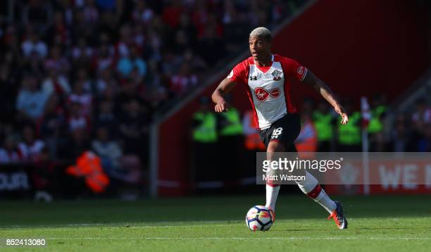 Mario Lemina of Southampton during the Premier League match between Southampton and Manchester United at St Mary's Stadium on September 23 2017 in...
