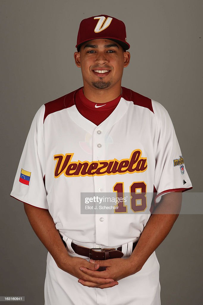 Mario Lisson #18 of Team Venezuela poses for a headshot for the 2013 World Baseball Classic at Roger Dean Stadium on Monday, March 4, 2013 in Jupiter, Florida.