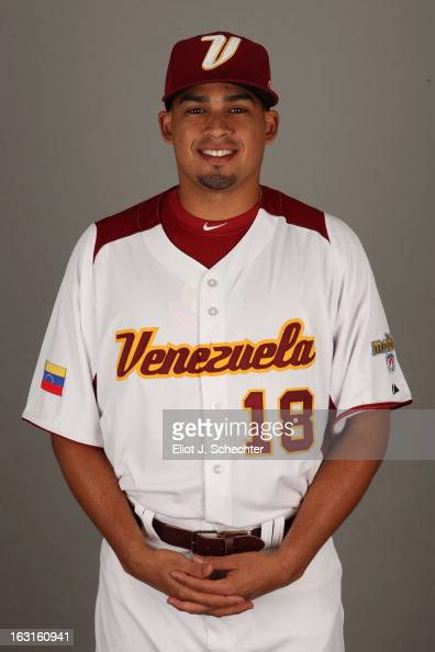 Mario Lisson of Team Venezuela poses for a headshot for the 2013 World Baseball Classic at Roger Dean Stadium on Monday March 4 2013 in Jupiter...