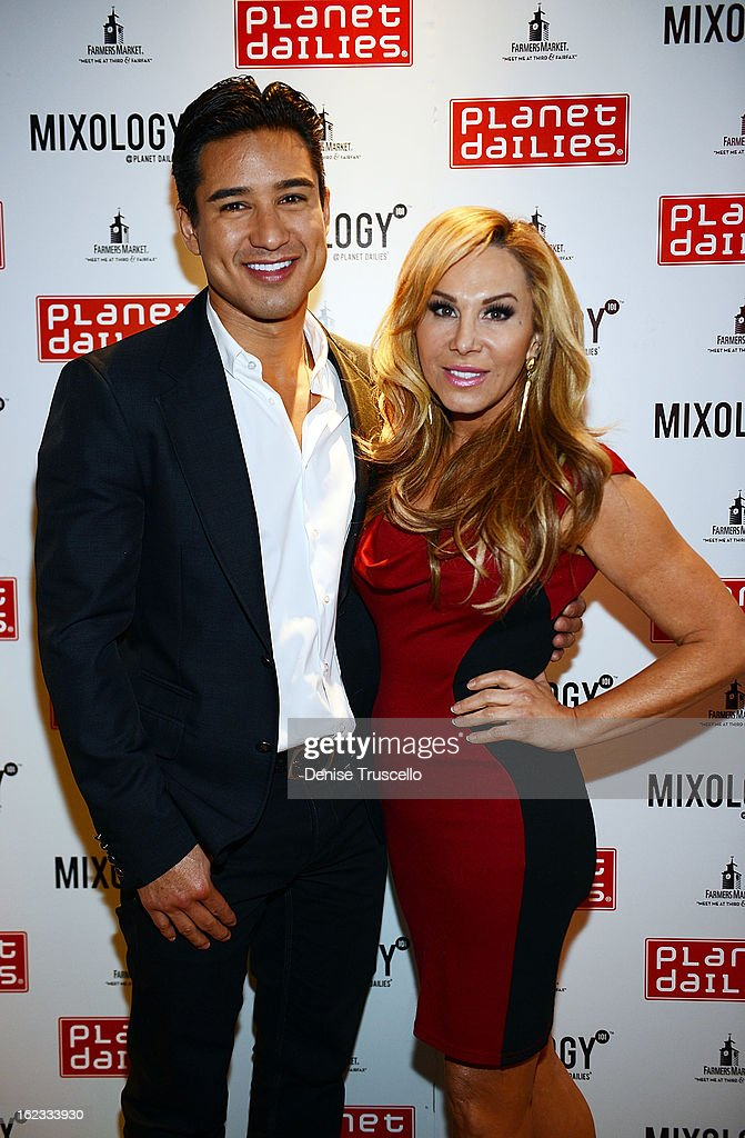 Mario Lopez and Adrienne Maloof arrive at the Have A Heart benefit for organ donor recipients and their families at Mixology LA at the Farmers Market on February 21, 2013 in Los Angeles, California.