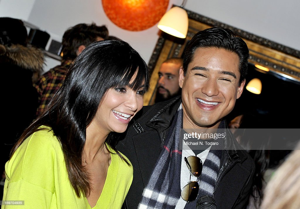 Mario Lopez and Courtney Laine Lopez attend the TR Suites Daytime Lounge - Day 1 on January 18, 2013 in Park City, Utah.