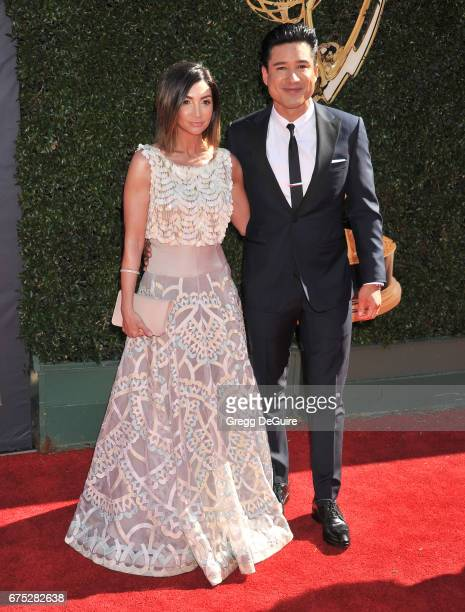 Mario Lopez and Courtney Laine Mazza arrive at the 44th Annual Daytime Emmy Awards at Pasadena Civic Auditorium on April 30 2017 in Pasadena...