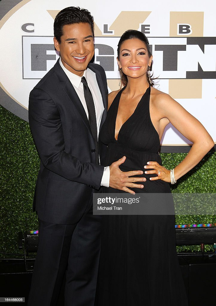 <a gi-track='captionPersonalityLinkClicked' href=/galleries/search?phrase=Mario+Lopez&family=editorial&specificpeople=235992 ng-click='$event.stopPropagation()'>Mario Lopez</a> (L) and <a gi-track='captionPersonalityLinkClicked' href=/galleries/search?phrase=Courtney+Mazza&family=editorial&specificpeople=5650960 ng-click='$event.stopPropagation()'>Courtney Mazza</a> arrive at Celebrity Fight Night XIX held at JW Marriott Desert Ridge Resort & Spa on March 23, 2013 in Phoenix, Arizona.