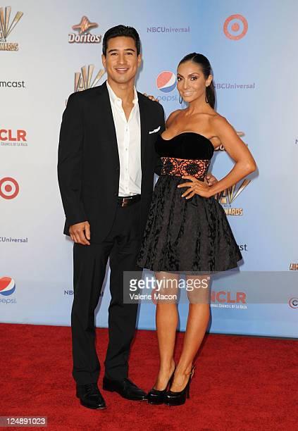 Mario Lopez and Courtney Mazza arrives at the 2011 NCLR ALMA Awards held at Santa Monica Civic Auditorium on September 10 2011 in Santa Monica...