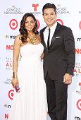 Mario Lopez and Courtney Mazza arrives at the 2013 NCLR ALMA Awards held at Pasadena Civic Auditorium on September 27 2013 in Pasadena California