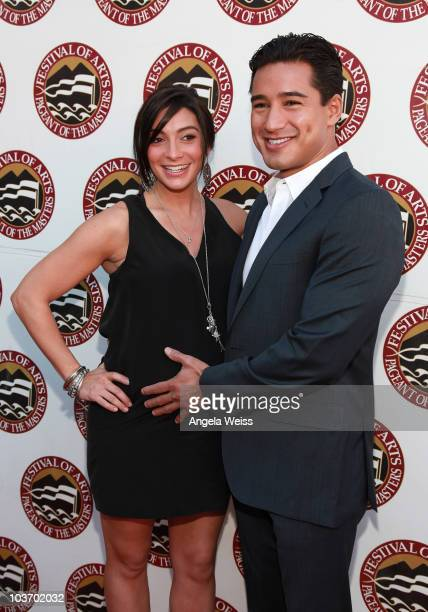 Mario Lopez and Courtney Mazza attend the 2010 Festival of Arts/Pageant of the Masters gala on August 28 2010 in Laguna Beach California