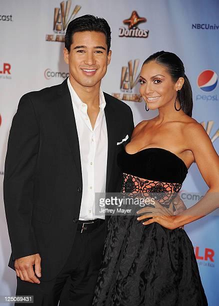 Mario Lopez and Courtney Mazza attend the 2011 NCR ALMA Awards at Santa Monica Civic Auditorium on September 10 2011 in Santa Monica California