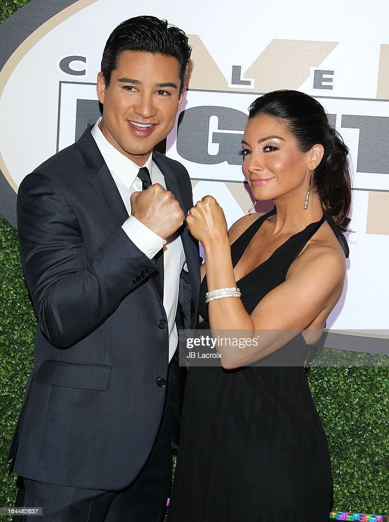 Mario Lopez and Courtney Mazza attend the Muhammad Ali's Celebrity Fight Night XIX held at JW Marriott Desert Ridge Resort & Spa on March 23, 2013 in Phoenix, Arizona.
