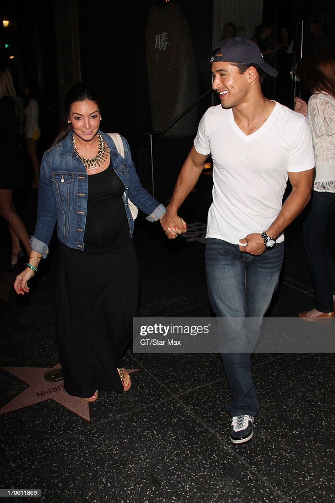 Mario Lopez and Courtney Mazza is seen on June 14, 2013 in Los Angeles, California.