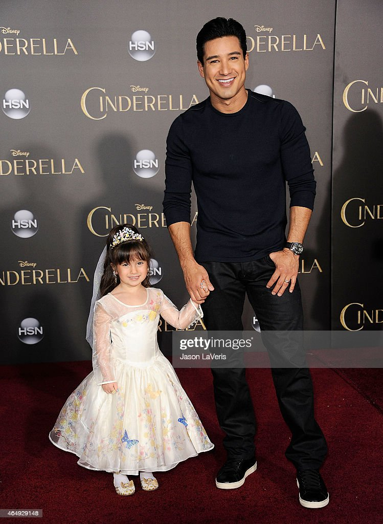 Mario Lopez and daughter Gia Francesca Lopez attend the premiere of 'Cinderella' at the El Capitan Theatre on March 1 2015 in Hollywood California