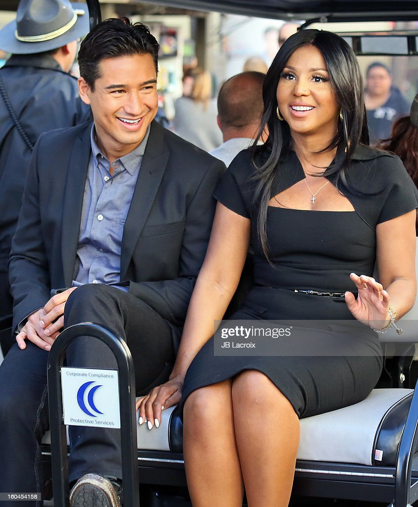 Mario Lopez and Toni Braxton are seen on January 31, 2013 in Los Angeles, California.