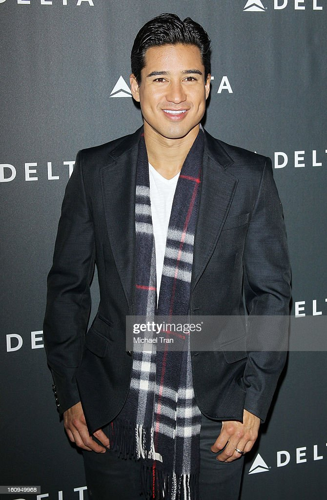 Mario Lopez arrives at Delta Air Lines celebrates the GRAMMY Awards held at The Getty House on February 7, 2013 in Los Angeles, California.